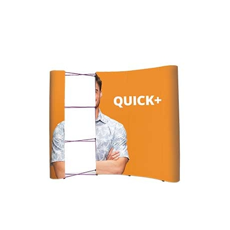 Ścianka Pop Up  Magnetyczna Łukowa 3x4 z wydrukiem