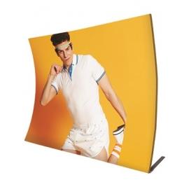 Ścianka Reklamowa Tekstylna Wertykalna 2,4m z wydrukiem
