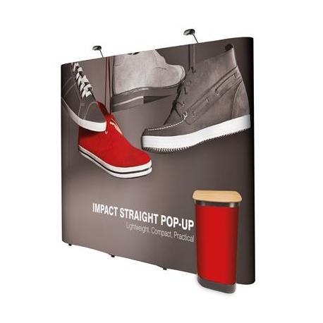 Ścianka Pop Up Magnetyczna Prosta 3x3 z wydrukiem